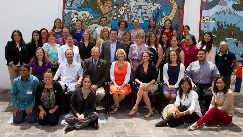 Peace Corps Mexico staff pictured with then Global Director Carrie Hessler Radelet
