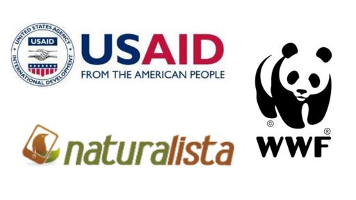 USAID, NaturaLista, WWF Logos