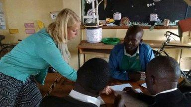 Ashley trains teachers at a workshop