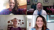 Four people are on a Zoom meeting.
