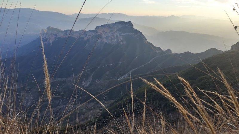 Cuatro Palos mountain lookout point in the Sierra Gorda of Queretaro, Mexico