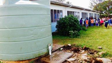 water tank in need of repair