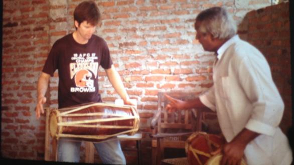 David with his drum master
