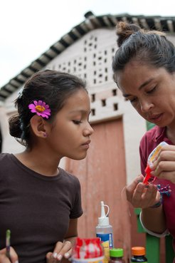 PCV working with children in Nicaragua