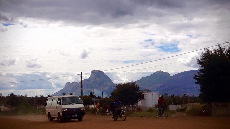 A road in Mozambique