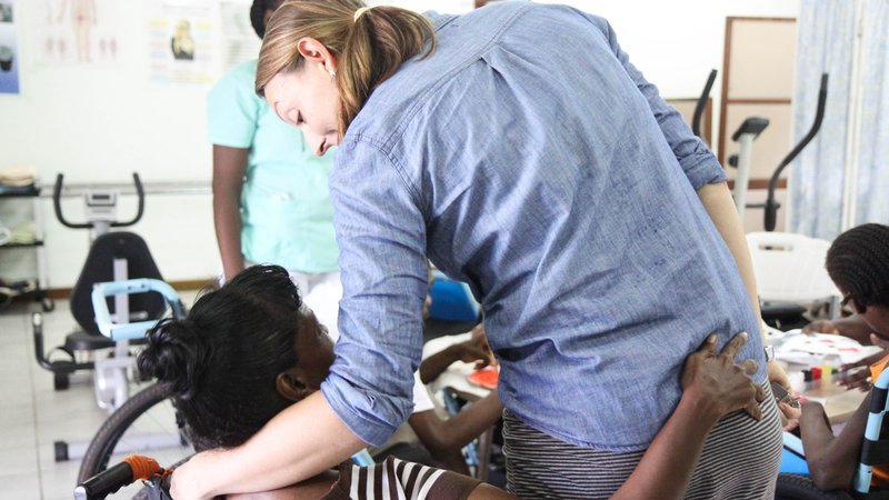 Peace Corps Response Volunteer in Guyana in 2004