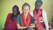 Peace Corps Ethiopia Volunteer Ally Walker with fellow English teachers and friends