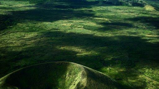 An aerial shot of the island of Grande Comore.