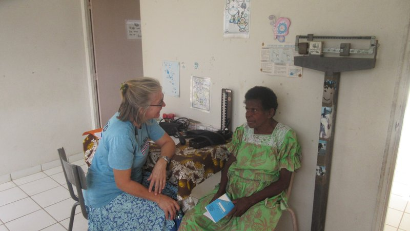 PCV Susan and patient on NCD Day