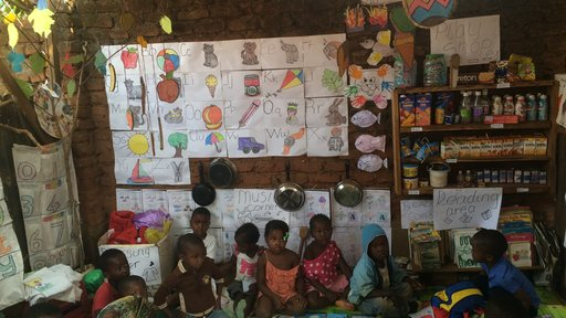 A nursery school classroom transformed using lessons learned from the Perivoli Schools Trust approach. Previously, this class