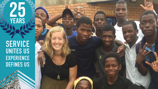Photo of RPCV Kailie and her students at the High School for the Deaf, Eswatini