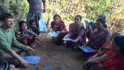 Leading a Water Conservation and Biodiversity training in my village.