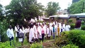 Group of students in medicinal garden