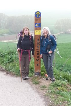 Cate and Kelsi on the Camino de Santiago