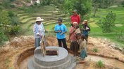 Madagascar: A community health worker explains how the safe water source functions.