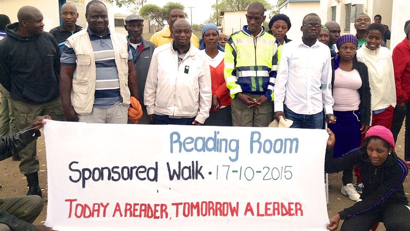 A reading room and resource center in Botswana.