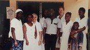 Patty Short with clinic staff, Liberia