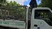 Pango Gree Force trash removal truck