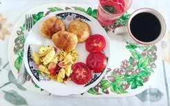 Ackee and Saltfish and Johnny Cakes