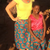 Ashley stands with a young student in Malawi.