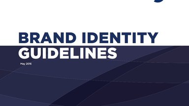Brand identity guidelines cover