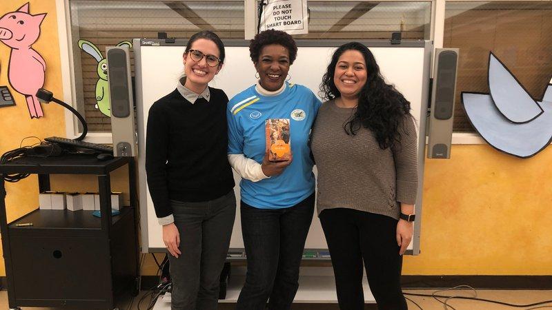 Returned Volunteers Lauren, Marisela and Sol