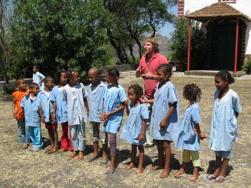 Volunteer Steven Easterby is working in Cape Verde with a local organization that conducts park and ecotourism management work within Sao Nicolau's Parque Natural Monte Gordo.