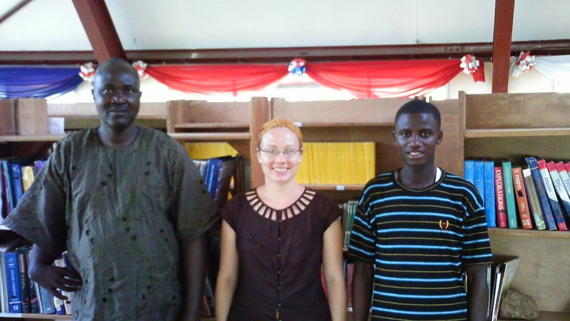 With counterparts in Liberia as a Peace Corps Response Volunteer