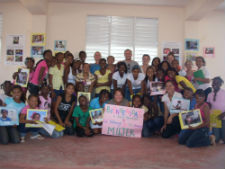 Peace Corps volunteers in the Dominican Republic celebrate International Womens Day.