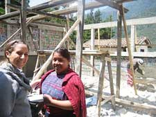 Peace Corps/Guatemala volunteer Stefanie Fabrico is using discarded plastic bottles to construct her villages first high school.