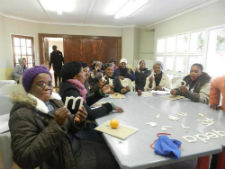 Teachers in South Africa partake in an activity to improve their English-teaching skills.
