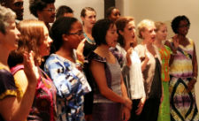 Peace Corps volunteers in Senegal are sworn into service by Secretary of State Hillary Rodham Clinton.