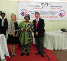 Peace Corps Acting Director Carrie Hessler-Radelet, Malawi President Dr. Joyce Banda and Kevin Novotny.