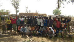 Community members in Burkina Faso that will help plant, protect and care for the new garden.