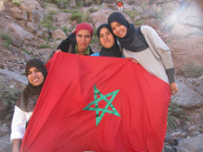 C.L.I.M.B. participants during the four-day hike to the summit of Mt. Toubkal.