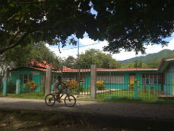 The elementary school in Peace Corps volunteer Elisa Molina's village.