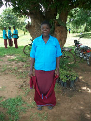 A female student in Peace Corps volunteer Erica Ward's community.