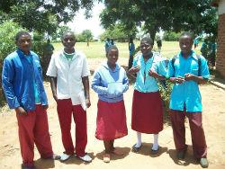 Boarding school students in Peace Corps volunteer Erica Ward's community.