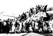 51 Americans arrive in Accra, Ghana to serve as Peace Corps volunteers.