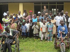 Peace Corps volunteer Janette Ambauen with members of SNAP.