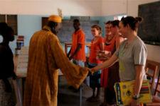 Girls Leadership Camp participants in Senegal.