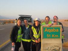 Five Peace Corps Jordan team members have only 51 kilometers left.