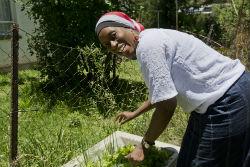 Returned volunteer Jacqueline Muhammad.