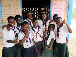 Members of Peace Corps volunteer Charlene Espinoza's Liberian girls club.
