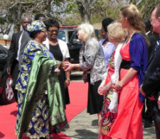 President Dr. Joyce Banda and Peace Corps Acting Director Carrie Hessler-Radelet.