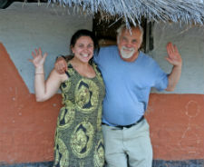 Martin and Natalie together in Natalie's Zambian village.