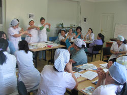 Nurses in Peace Corps volunteer Kate Borkowski's Mongolian community during a training.