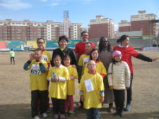 Mongolian athletes compete in Special Olympics events.