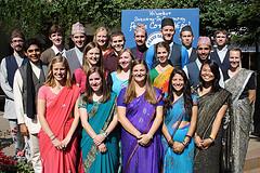 The newly sworn in Nepal volunteers.