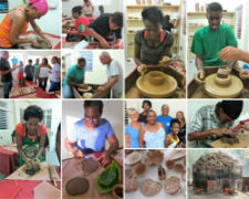 Peace Corps volunteers Joan Sara Romm and Donn Hedman are working to create a pottery studio that will be used by 50 local women and youth in St. Lucia.
